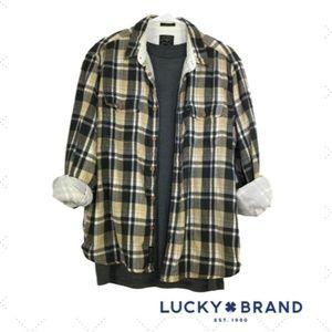 Lucky Brand Long Sleeve Mens Shirt Size L